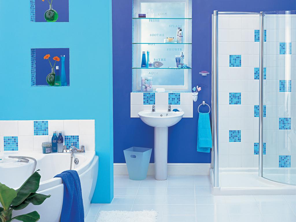 50 Gambar Kamar Mandi Sederhana Warna Cat Biru Desainrumahnyacom