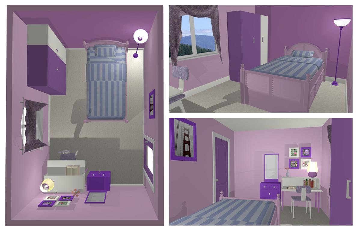 Kontentika Desain Kamar Ungu Violet