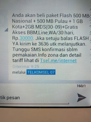 Trik Daftar Paket Telkomsel Flash 4gb 30rb 2018