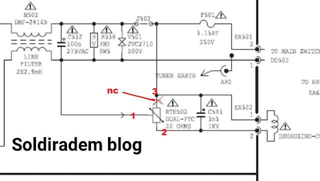 Kali ini aku sedikit menyebarkan pengalaman mengenai duduk masalah pada tv mengalami layaar nampak  Cara Mengganti PTC 3 Pin dengan 2 Pin TV CRT