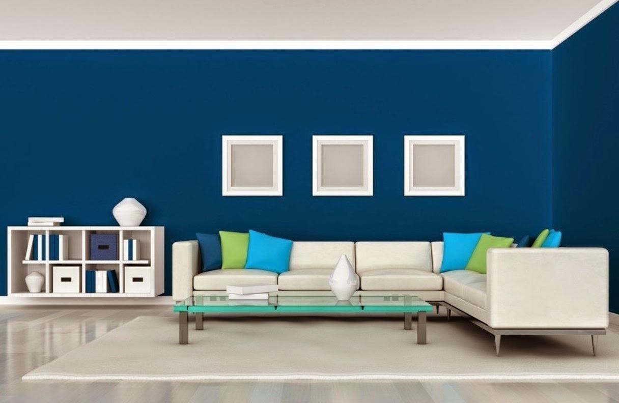 Contoh Gambar Rumah Minimalis Kombinasi Cat Warna Biru Rumah