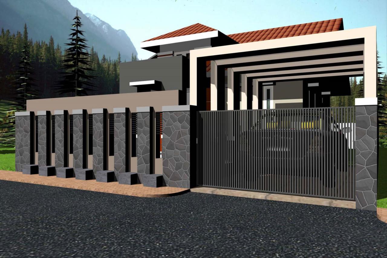 Model Pagar Tembok Rumah Minimalis Type 36