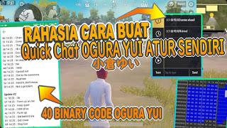 Cara Mengubah/membuat Voice Quick Chat Sendiri Versi Loli Ogura Yui A