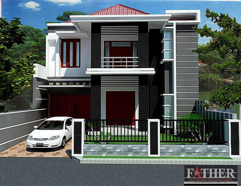 65 Desain Rumah Minimalis 2 Lantai Bentuk L