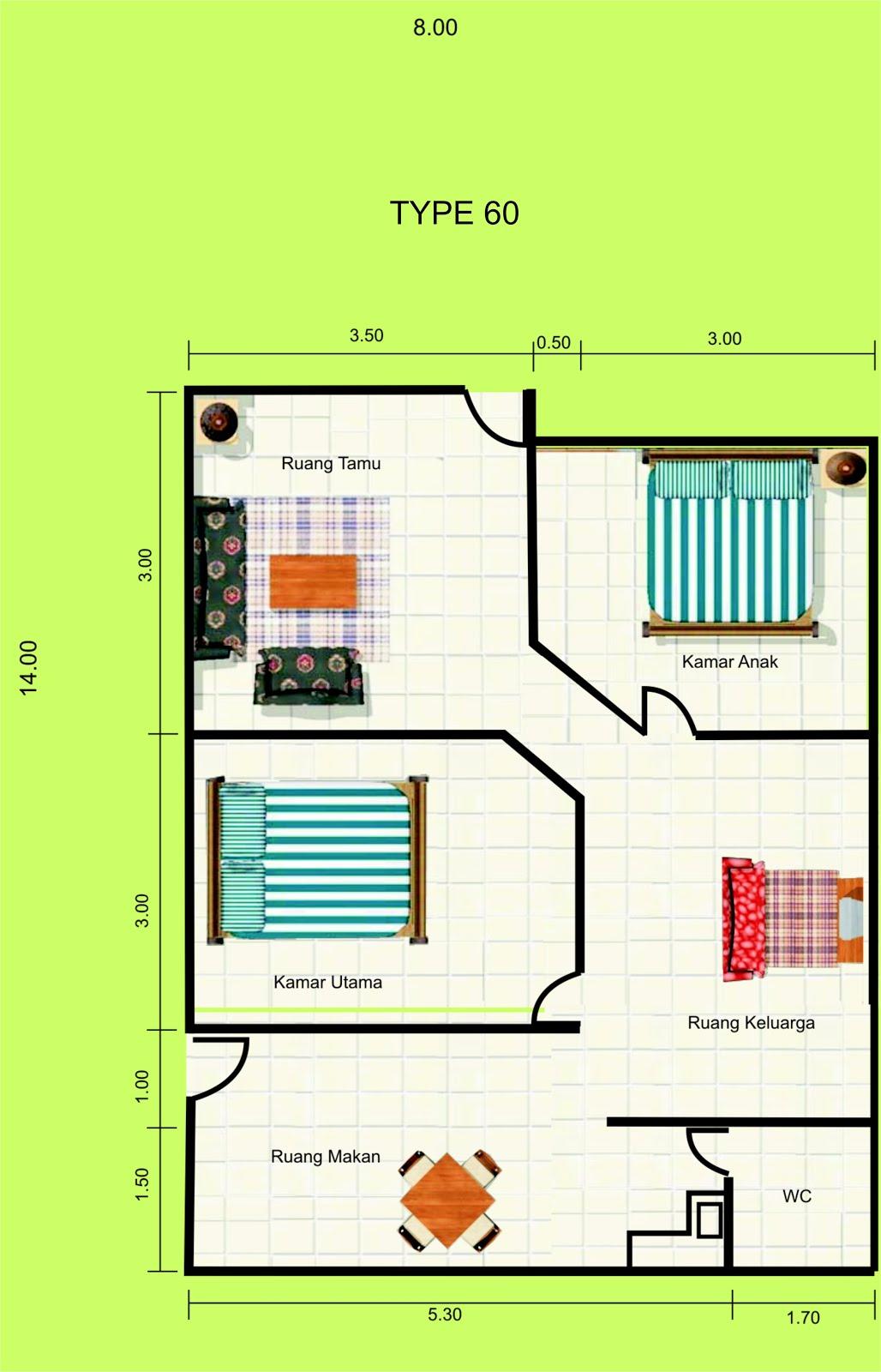 Gambar Denah Rumah Minimalis 1 Lantai Desain 2015 MODEL RUMAH UNIK