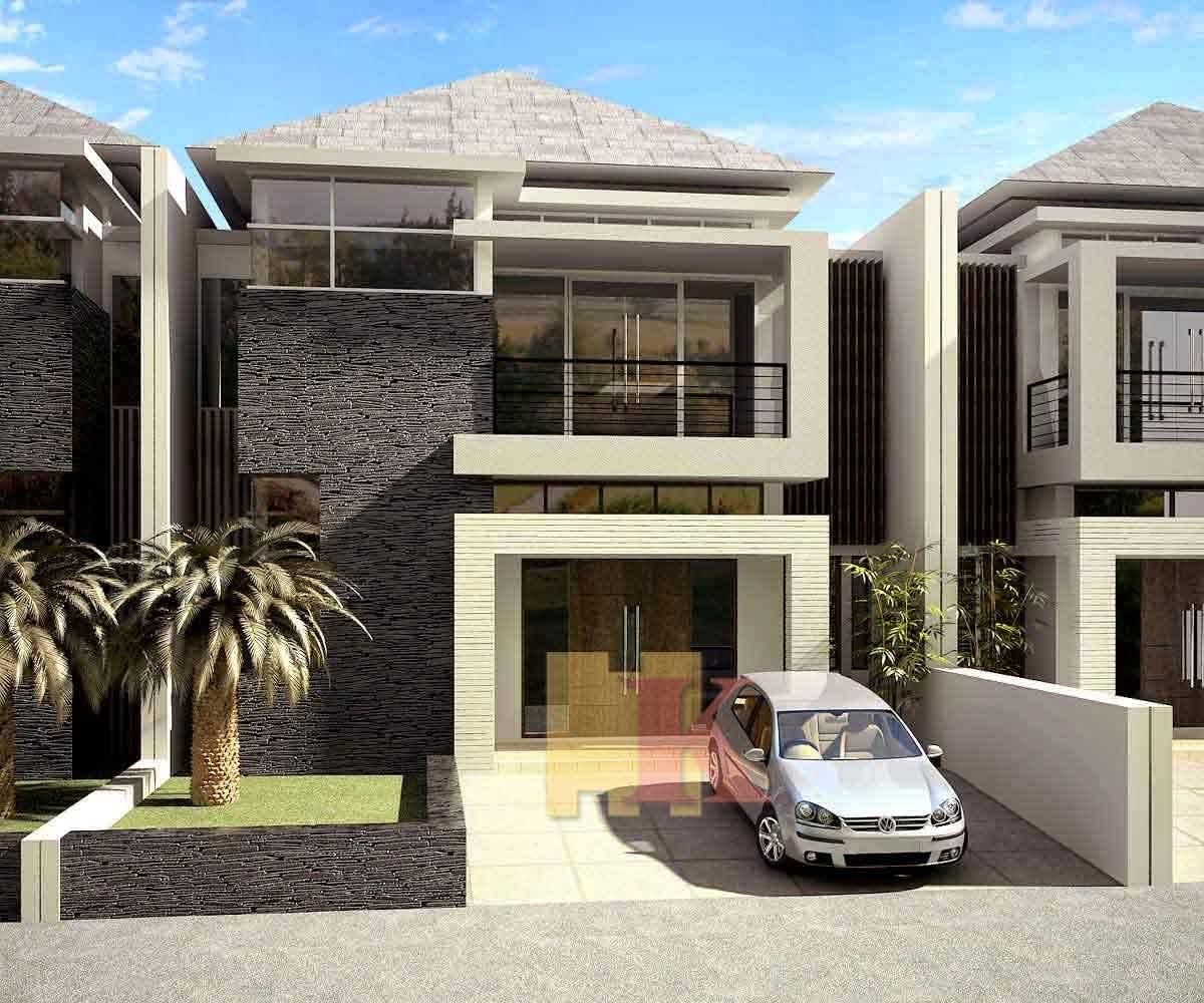 Contoh Desain Rumah Minimalis Modern Dan Gratis Desain Denah