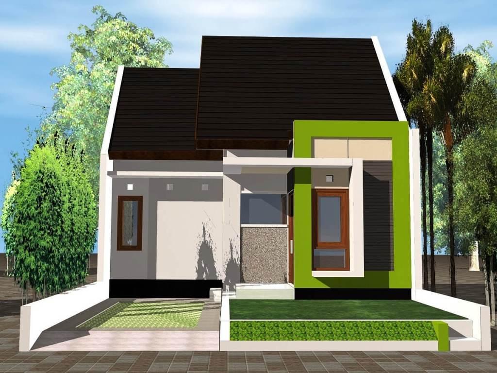 67 Desain Rumah Minimalis Warna Hijau