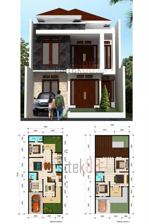 60 Desain Rumah Minimalis 7 X 14   Desain Rumah Minimalis Terbaru