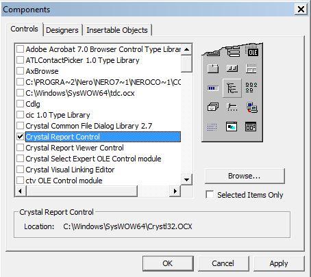 Koding Dasar Memunculkan Laporan Crystal Report Pada Vb 6.0