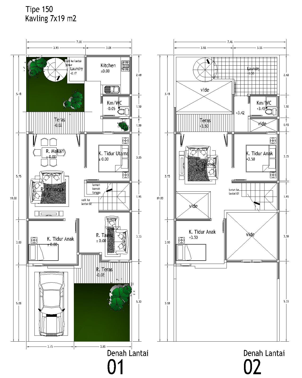 Ukuran Denah Rumah Type 21