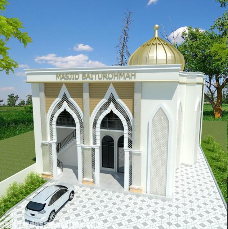 Gapura Masjid Minimalis Terbaru Gambar Model Pagar Masjid Minimalis