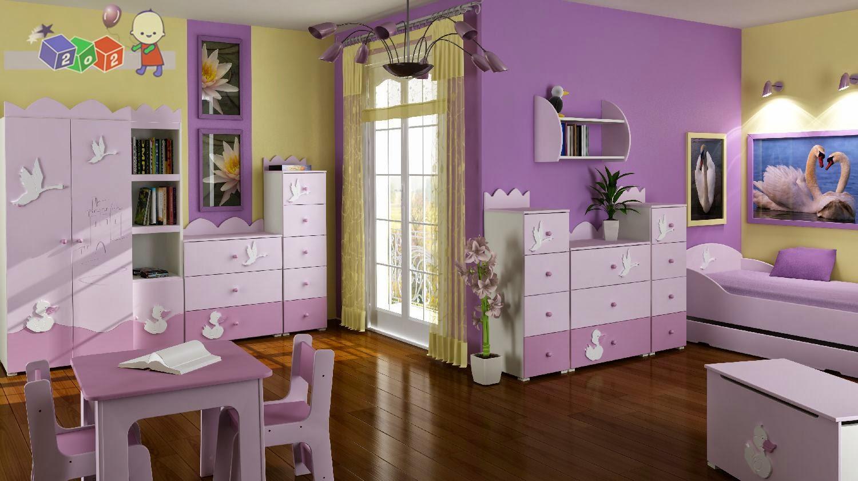 Desain Kamar Anak Warna Ungu Terbaik
