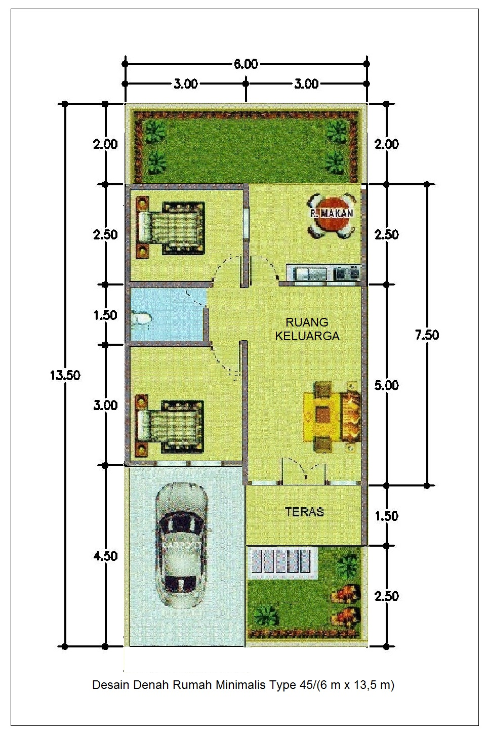 63 Desain Rumah Minimalis Ukuran 7x18