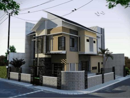 model pagar beton minimalis 2020