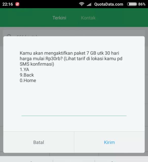 Paket Telkomsel 7gb 30rb Terbaru 2018