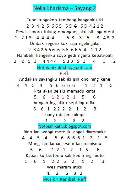 Not Angka Pianika Nella Kharisma – Sayang 2