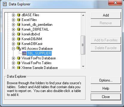 Cara Membuat Laporan Crystal Report Database Access ( .accdb )