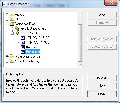 Cara Membuat Laporan Crystal Report Database Access ( .mdb )