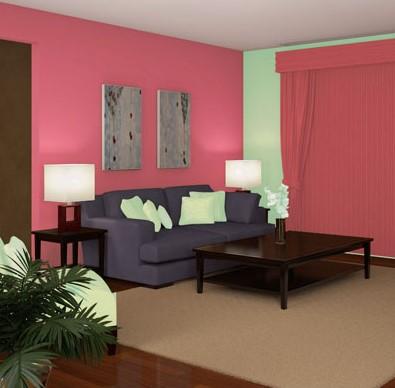 warna cat rumah pink salem