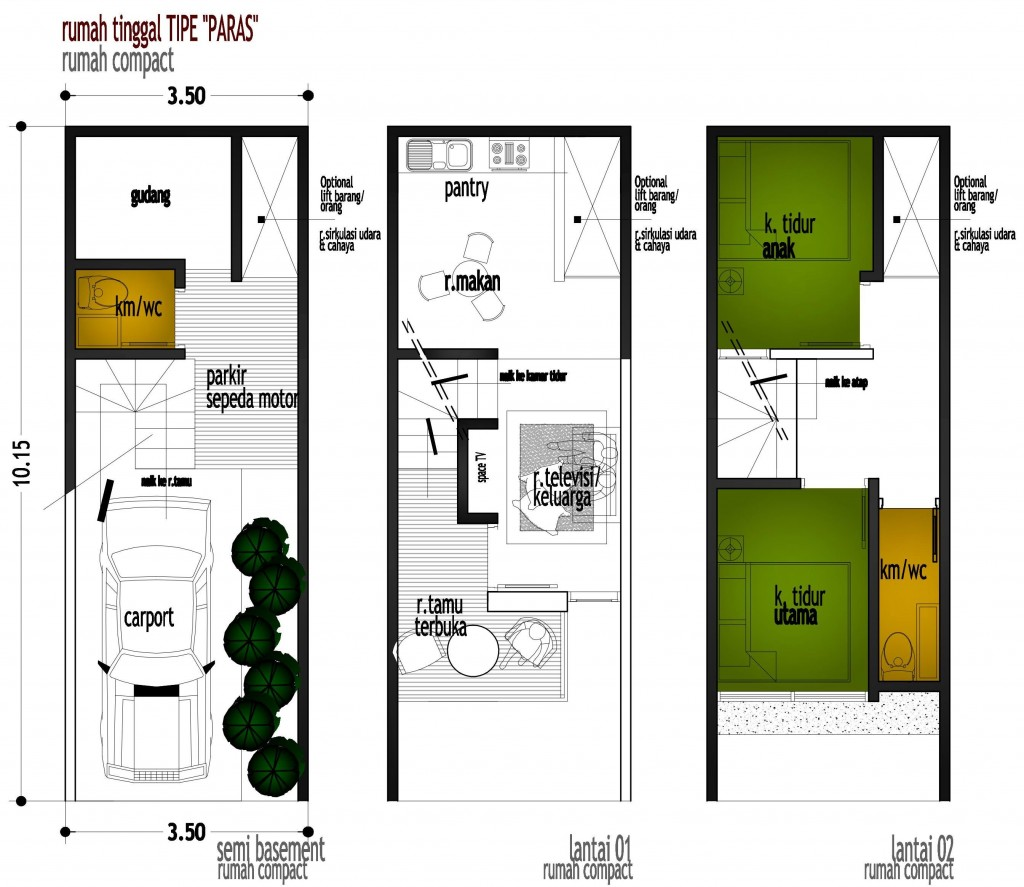 Rumah Minimalis 6 X 6 Omah Jati