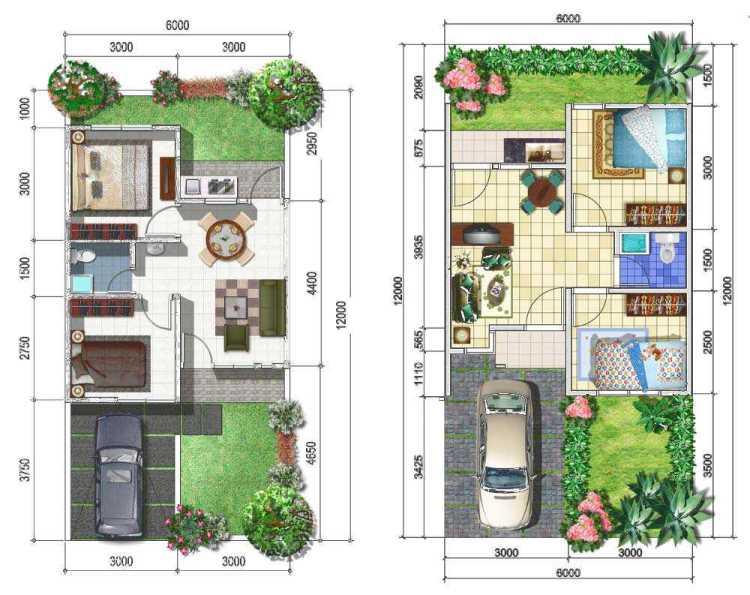 63 Desain Rumah Minimalis 6 X 12
