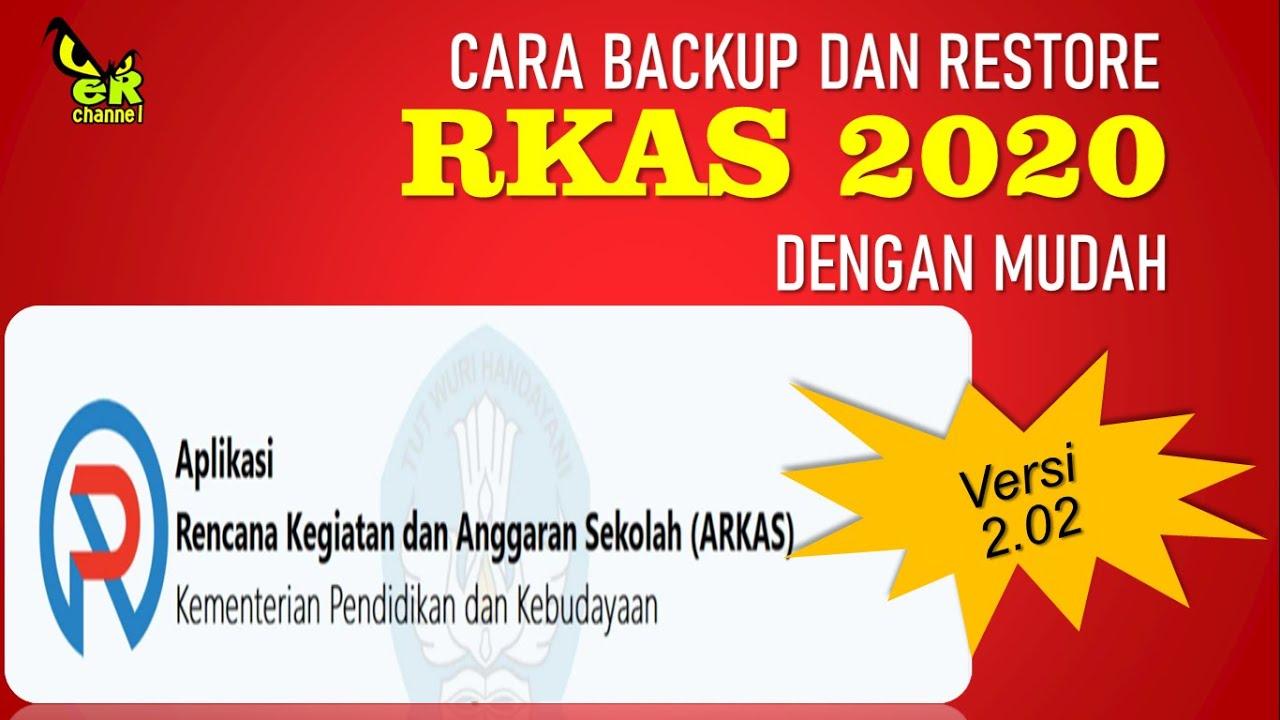 Cara Back Up Rkas 2020