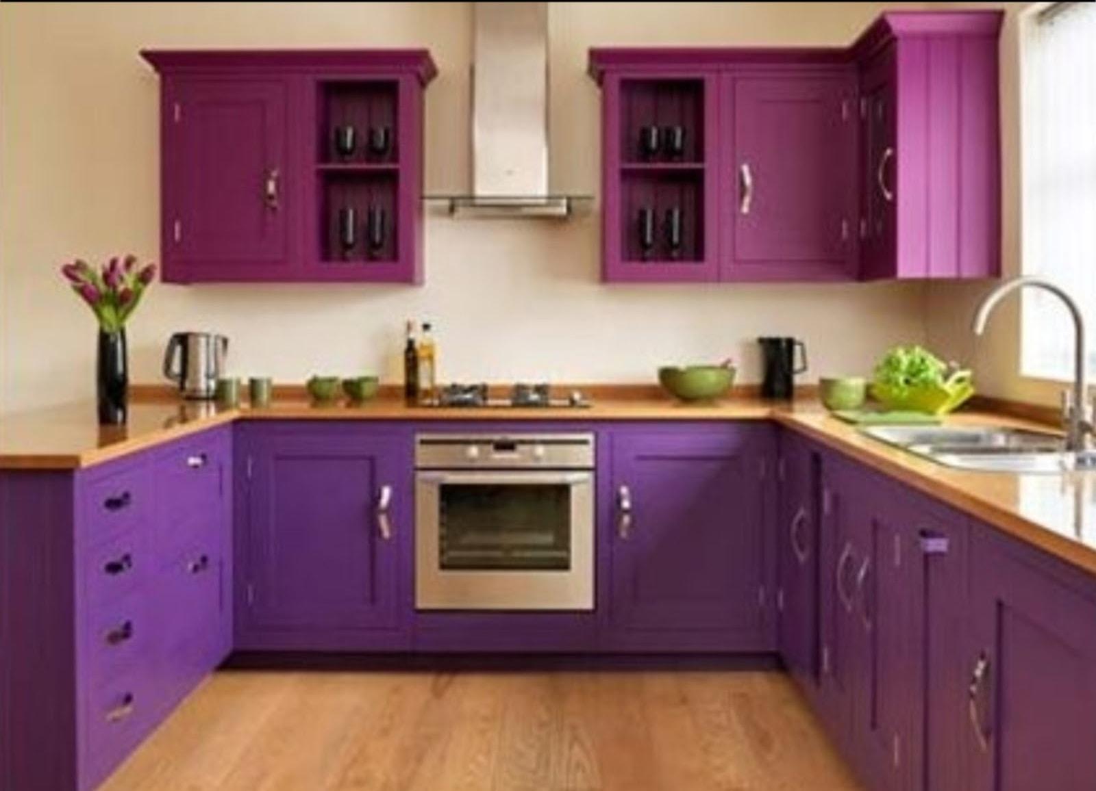40 Inspirasi Desain Dapur Minimalis Warna Ungu Yang Indah Dan