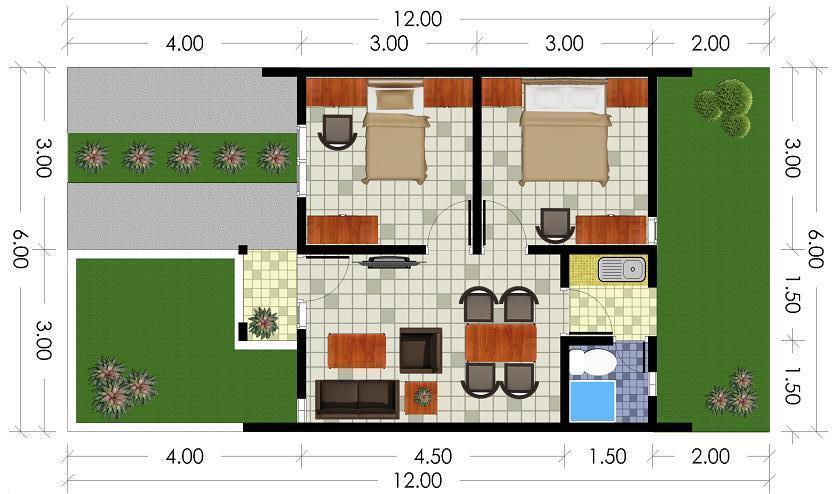 Denah Rumah Type 36/60 2 Lantai : Inspirasi Denah Rumah 2 ...