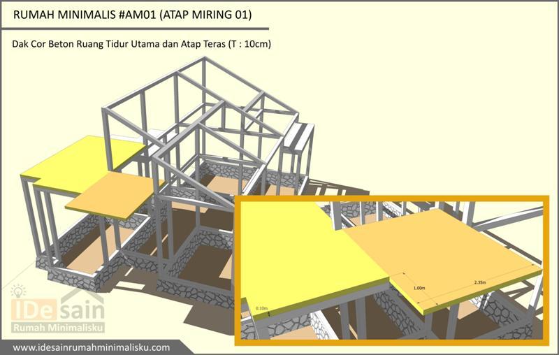 Download Gambar Kerja Desain Rumah Minimalis 3 Kamar #am01