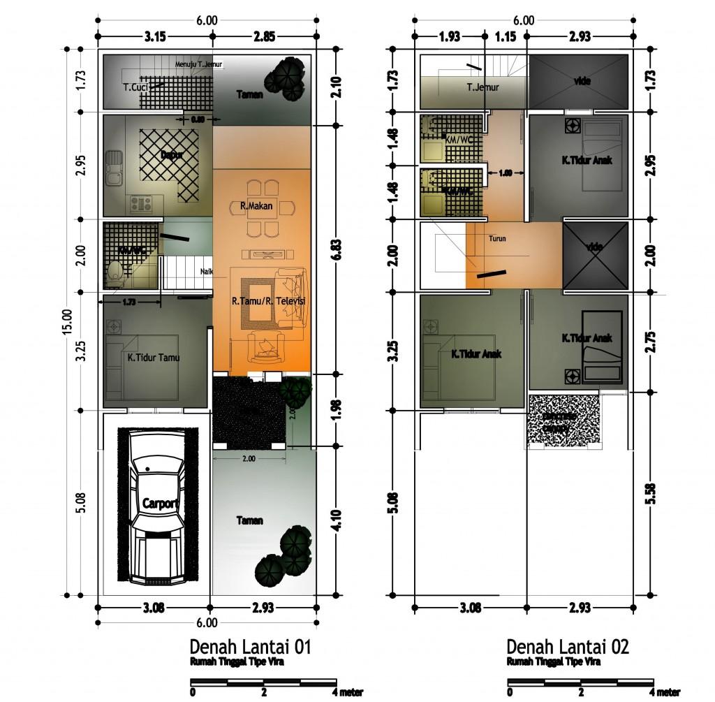 70 Desain Rumah Minimalis Ukuran 6x18