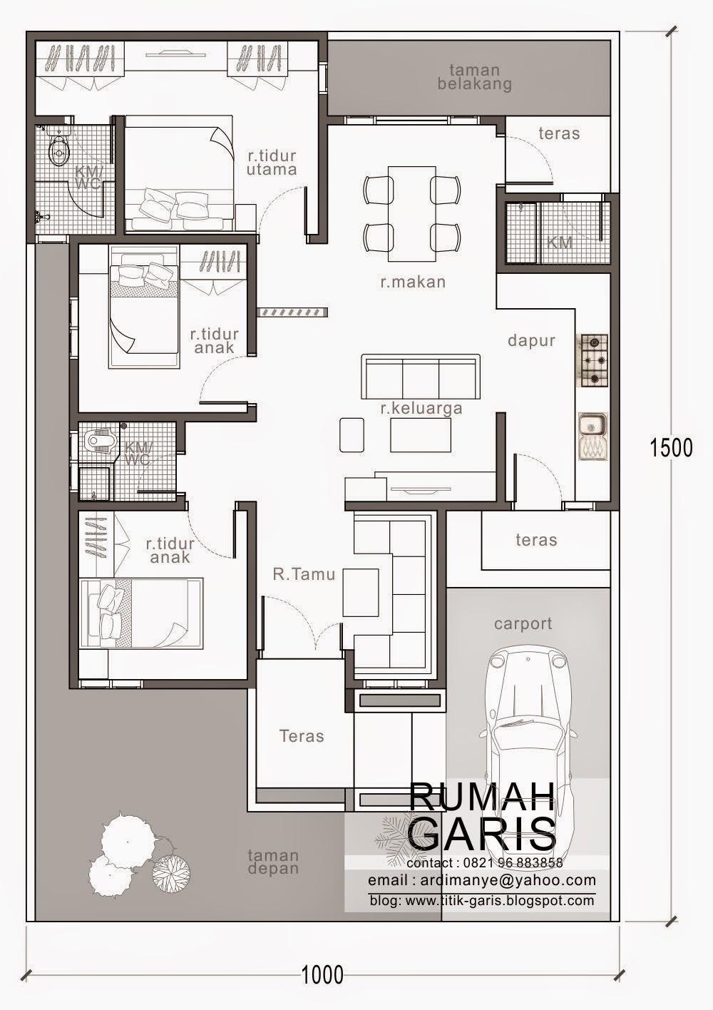 64 Desain Rumah Minimalis 10 X 15