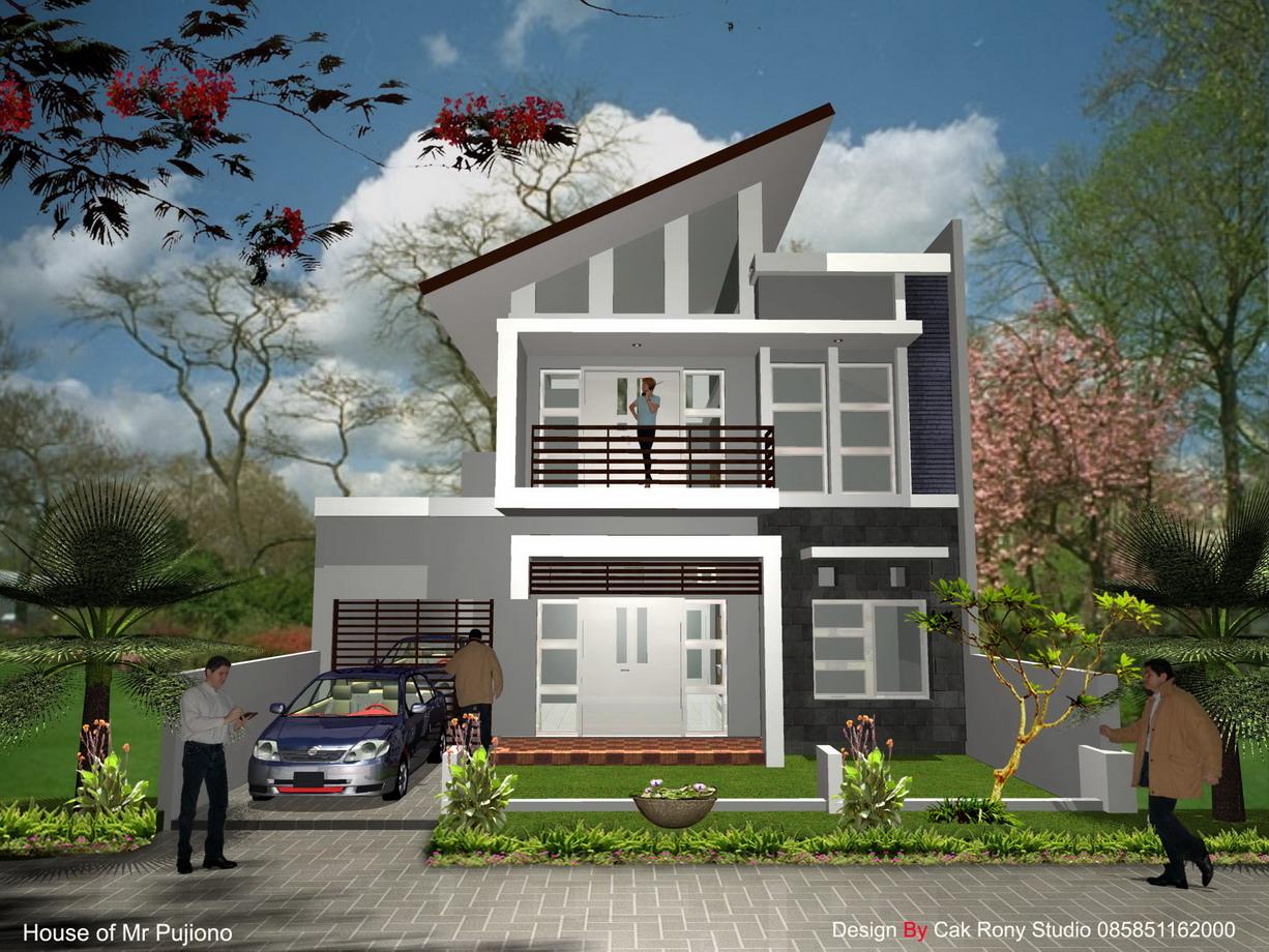 Contoh Desain Rumah Minimalis 2 Lantai Modern Renovasi Rumahnet