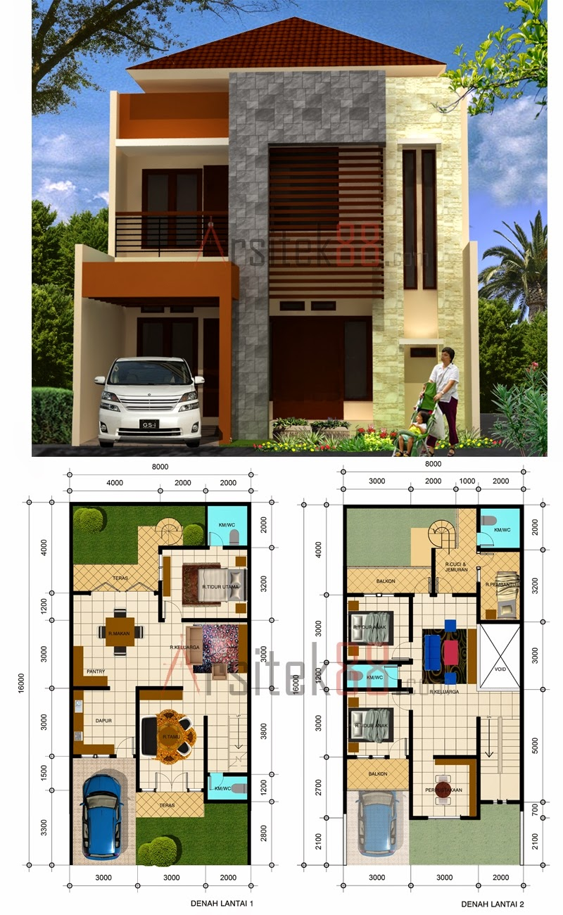 63 Desain Rumah Minimalis Ukuran 6x10 2 Lantai