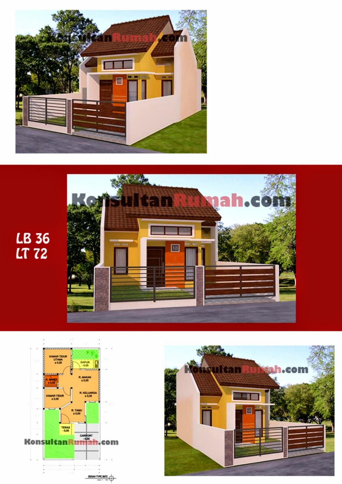 67 Desain Rumah Minimalis Type 36 72 | Desain Rumah ...