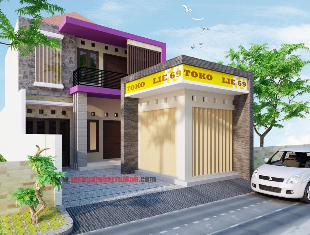 69 Desain Rumah Minimalis Dengan Warung