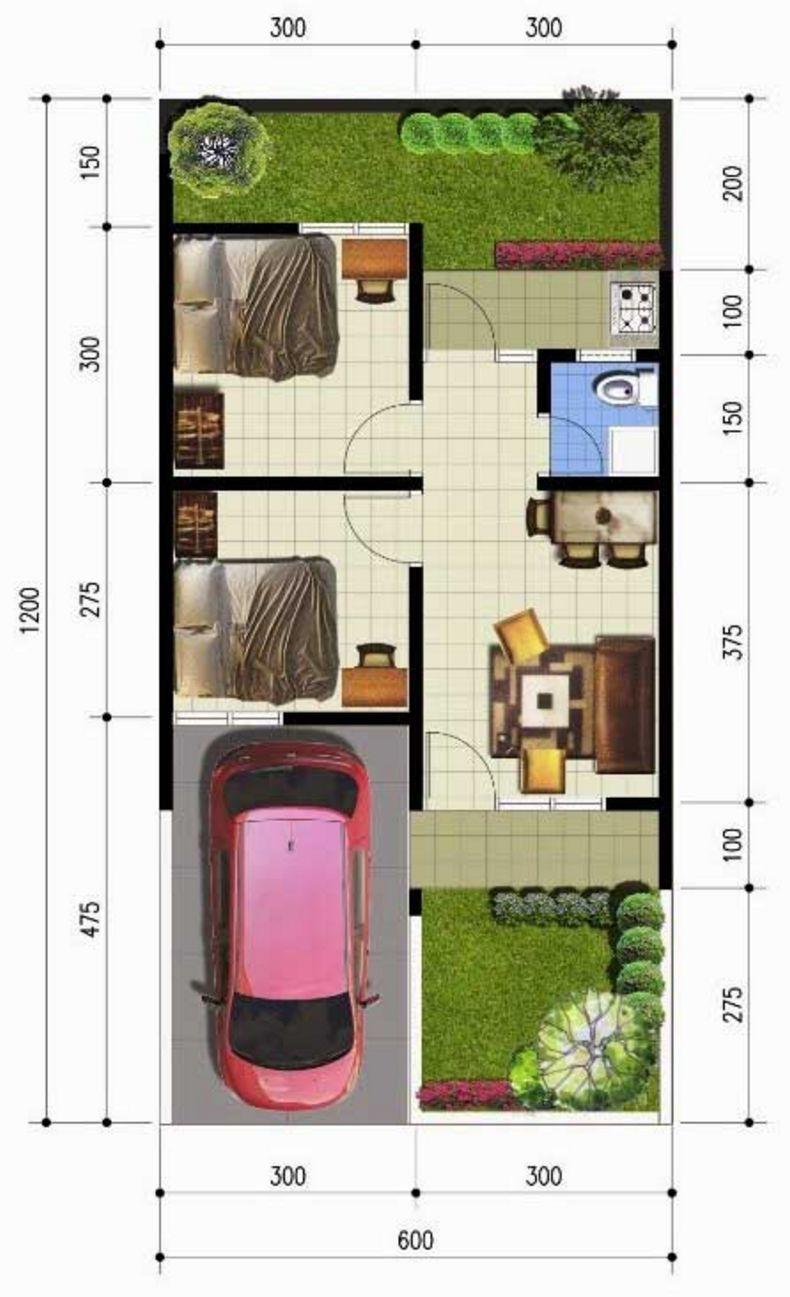 Desain Rumah Sederhana Ukuran 612 Meter
