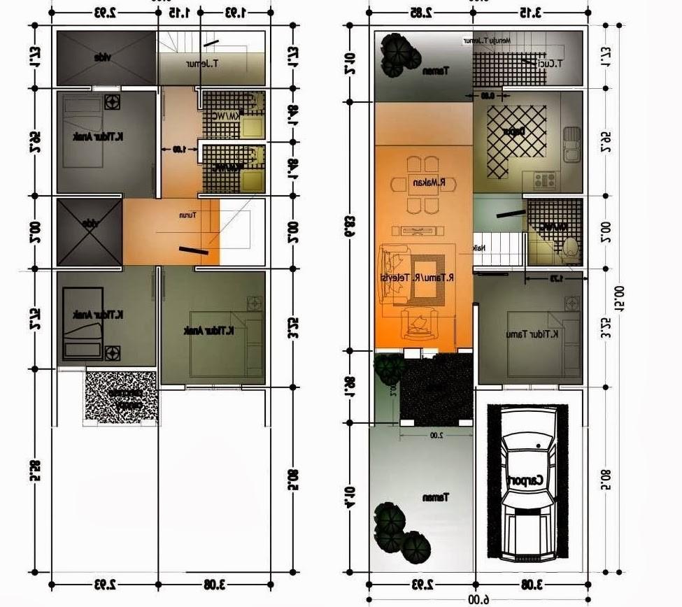 65 Desain Rumah Minimalis Ukuran 6x10
