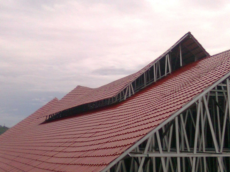 Warna Cat Rumah Genteng Merah Marun