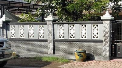model pagar tembok depan rumah minimalis