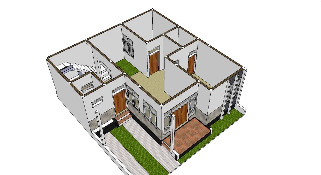 61 Desain Rumah Minimalis 8 X 10