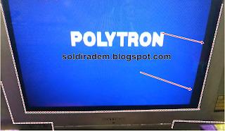 Tv Polytron Minimax Terdapat Garis Tebal Pada Bab Samping Layar
