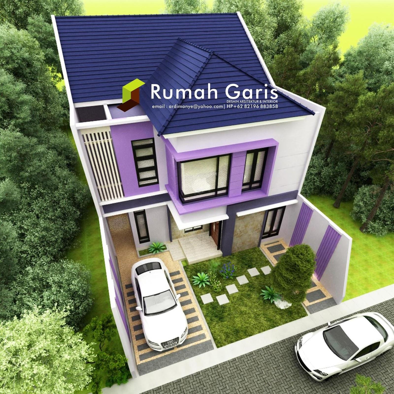Desain Rumah Tinggal 2 Lantai Di Lahan 10x25 Meter Di Sengkang