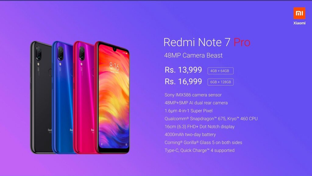 Spesifikasi Dan Harga Smartphone Xiaomi Redmi 7 Pro
